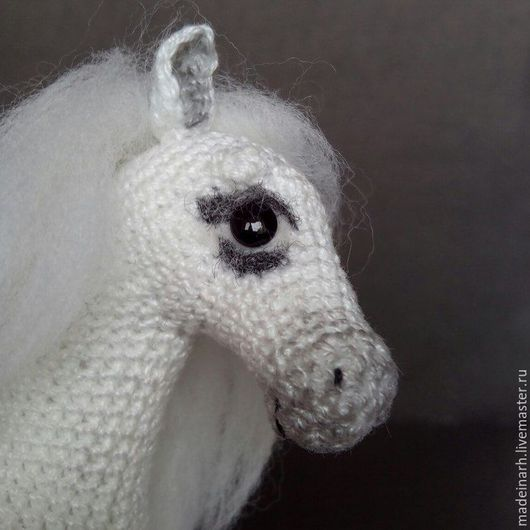 Игрушки животные, ручной работы. Ярмарка Мастеров - ручная работа. Купить Белая лошадь. Handmade. Белый, холлофайбер