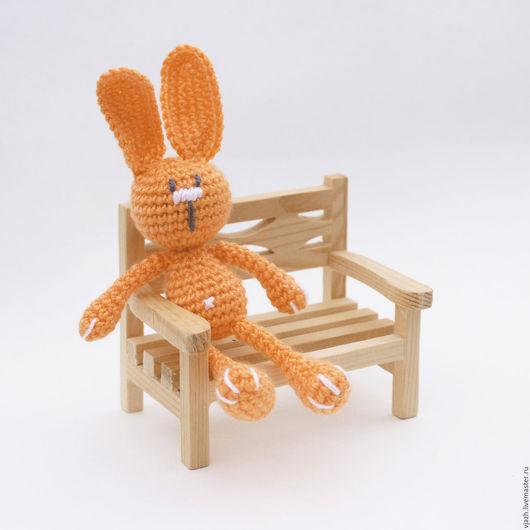 Игрушки животные, ручной работы. Ярмарка Мастеров - ручная работа. Купить Зайка Апельсиновый. Handmade. Оранжевый, подарок, микрофибра