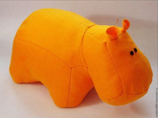 Игрушки животные, ручной работы. Ярмарка Мастеров - ручная работа. Купить Бегемотик из фетра 30см. Handmade. Оранжевый, бегемот игрушка