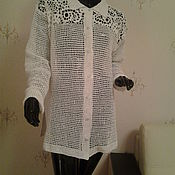 Одежда ручной работы. Ярмарка Мастеров - ручная работа Вязаная рубашка унисекс Лето 2. Handmade.