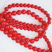 Бусины ручной работы. Ярмарка Мастеров - ручная работа Коралл красный. Handmade.
