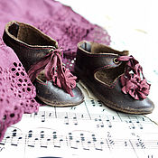 Куклы и игрушки ручной работы. Ярмарка Мастеров - ручная работа Немного пурпура. Туфельки для куклы.. Handmade.