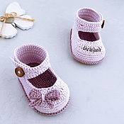 Материалы для творчества handmade. Livemaster - original item Booties crochet master class, pdf. Shoes for girls. Handmade.
