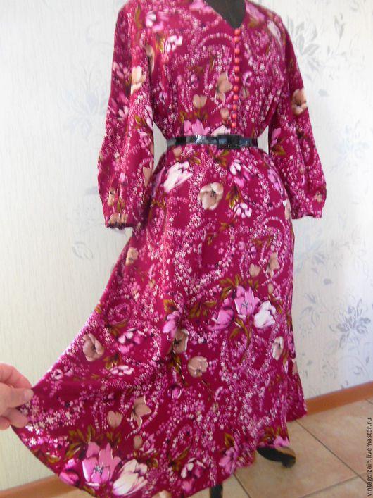 Одежда. Ярмарка Мастеров - ручная работа. Купить Шёлковое ПЛАТЬЕ крепдешин винтаж. Handmade. Платье винтажное, одежда, винтажное платье