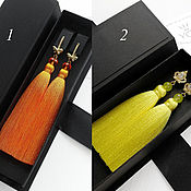 Украшения handmade. Livemaster - original item Orange Orange Brush Earrings. Lemon Yellow Earrings. Handmade.