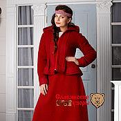Одежда ручной работы. Ярмарка Мастеров - ручная работа Юбка шерстяная красная. Handmade.