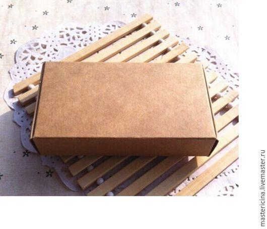Упаковка ручной работы. Ярмарка Мастеров - ручная работа. Купить Коробка для упаковки прямоугольная крафт. Handmade. Бежевый, коробка