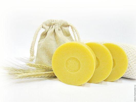 """Мыло ручной работы. Ярмарка Мастеров - ручная работа. Купить """"Пшеничное"""" натуральное мыло. Handmade. Мыло с нуля, мыло в подарок"""