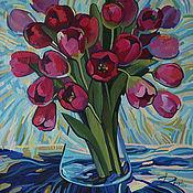Картины и панно ручной работы. Ярмарка Мастеров - ручная работа Безмолвные тюльпаны. Handmade.