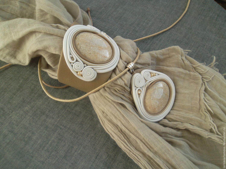 Handmade jewelry 'Sandy beach' with aventurine, Jewelry Sets, Velikiy Novgorod,  Фото №1