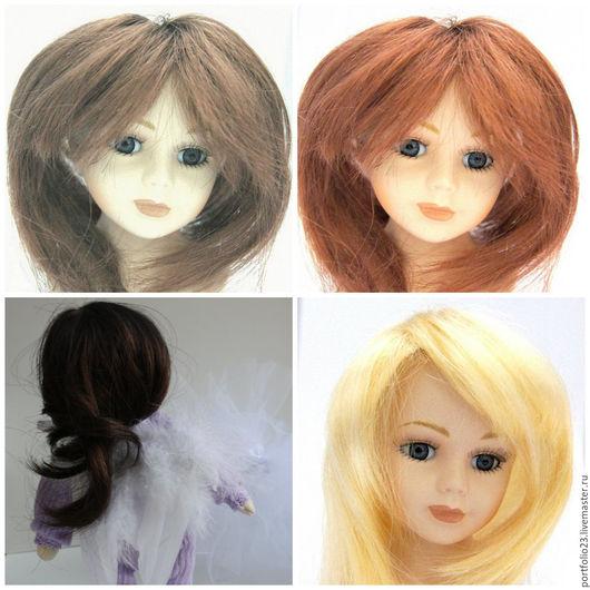 Куклы и игрушки ручной работы. Ярмарка Мастеров - ручная работа. Купить Парички для кукол прямые 3-5 см.. Handmade.