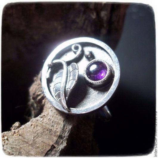 """Кольца ручной работы. Ярмарка Мастеров - ручная работа. Купить Кольцо с аметистом """"Каллы"""". Handmade. Аметист натуральный, серебряное кольцо"""