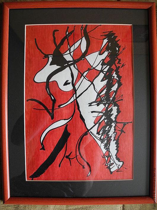Абстракция ручной работы. Ярмарка Мастеров - ручная работа. Купить Танго. Handmade. Танго, женщина, мужчина, пара, танец, страсть