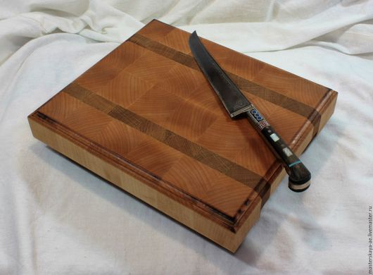 Кухня ручной работы. Ярмарка Мастеров - ручная работа. Купить Разделочная доска из клена и дуба. Handmade. Разделочная, ручная работа