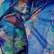 """Аксессуары ручной работы. Ярмарка Мастеров - ручная работа Батик шарф """"Рыбы Красного моря"""". Handmade."""