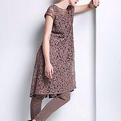 Одежда ручной работы. Ярмарка Мастеров - ручная работа Кружевное платье кофейного цвета. Handmade.