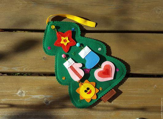 Детские карнавальные костюмы ручной работы. Ярмарка Мастеров - ручная работа. Купить Елочка из фетра (35см). Handmade. Тёмно-зелёный