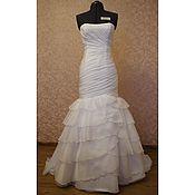 Свадебный салон ручной работы. Ярмарка Мастеров - ручная работа Свадебное платье белого цвета Мелисса. Handmade.