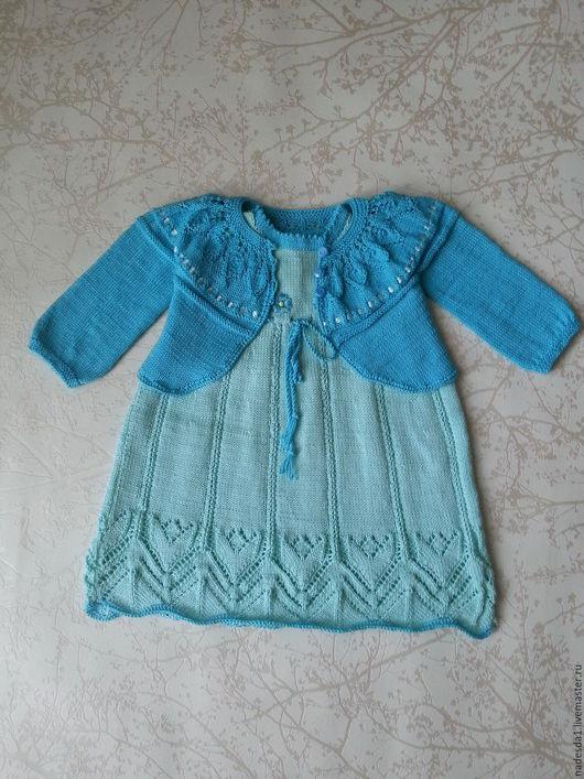 Платья ручной работы. Ярмарка Мастеров - ручная работа. Купить Комплект для девочки 1-1,5года. Handmade. Голубой, болеро