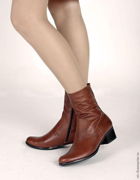 """Обувь ручной работы. Ярмарка Мастеров - ручная работа. Купить Полусапожки """"Корица"""". Handmade. Коричневый, натуральная кожа, обувь купить"""