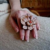 Украшения handmade. Livemaster - original item Ring with amber Orchid. Handmade.