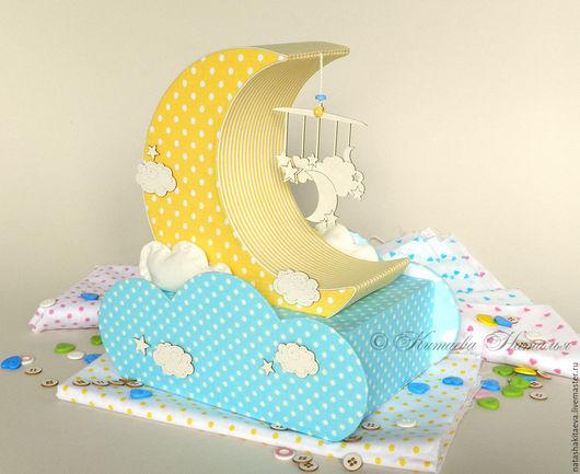 Для новорожденных, ручной работы. Ярмарка Мастеров - ручная работа. Купить Мамины сокровища Сладкие сны картонаж. Handmade. Голубой