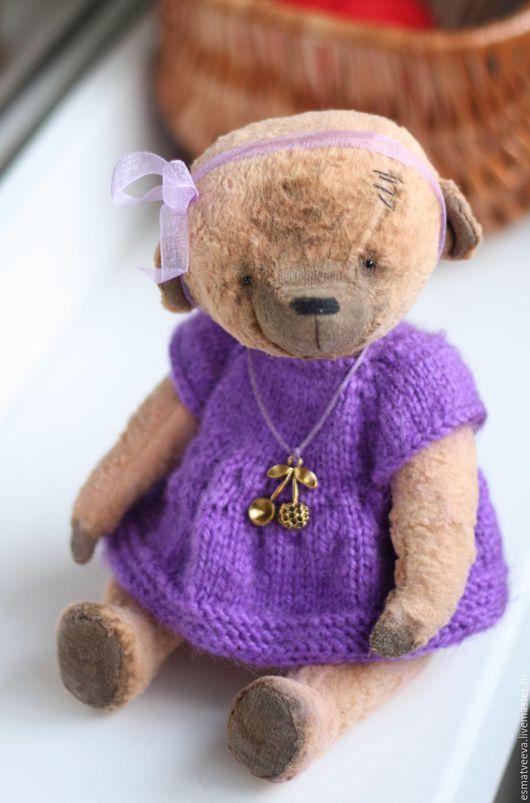 Мишки Тедди ручной работы. Ярмарка Мастеров - ручная работа. Купить Вероничка. Handmade. Бежевый, подарок, металлический гранулят, пряжа