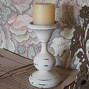 Для дома и интерьера ручной работы. Ярмарка Мастеров - ручная работа Подсвечник шебби 11 см. Handmade.