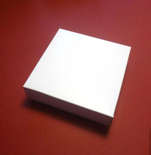 Упаковка ручной работы. Ярмарка Мастеров - ручная работа. Купить 8х8х3 - коробка крышка-дно полностьб белая, белый мелованный картон. Handmade.