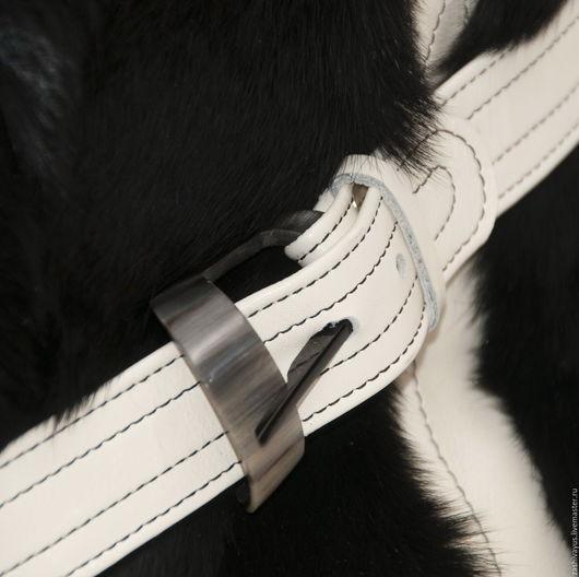 Сумка кожаная с натуральным мехом в черно-белом исполнении. Единственный хкземпляр.