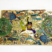 Картины и панно handmade. Livemaster - original item Decorative panels in the style of art Nouveau, modern Kiss. Handmade.