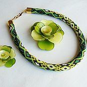 Украшения handmade. Livemaster - original item Harness beaded Frog. Handmade.