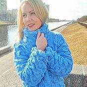 Одежда ручной работы. Ярмарка Мастеров - ручная работа Голубой водопад. Handmade.
