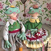 Чердачная кукла ручной работы. Ярмарка Мастеров - ручная работа Чердачная кукла: Тыквоголовка: Кукла лягушка. жаба. Handmade.