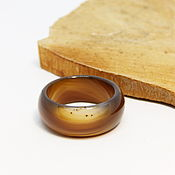 Украшения handmade. Livemaster - original item Wide ring brown agate 19.75 R-R Hot chocolate. Handmade.