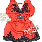 Одежда ручной работы. Ярмарка Мастеров - ручная работа Ночная сорочка, белье для сна, белье из кружево. Handmade.