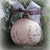 """Подарки к праздникам ручной работы. Ярмарка Мастеров - ручная работа Елочный шар """"Шебби Роз"""". Handmade."""