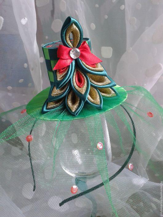 """Шляпы ручной работы. Ярмарка Мастеров - ручная работа. Купить Шляпка  """"Елочка"""". Handmade. Зеленый, елка, оригинальное украшение"""