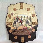 Для дома и интерьера ручной работы. Ярмарка Мастеров - ручная работа Часы Винный погребок. Handmade.