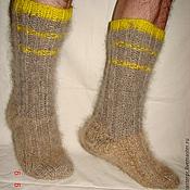 Аксессуары handmade. Livemaster - original item Socks cashmere knitted art. No. 53m of dog hair .. Handmade.