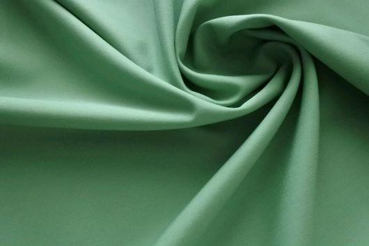 Шитье ручной работы. Ярмарка Мастеров - ручная работа. Купить Костюмно-плательный тонкий цветной итальянский хлопок - летняя зелень. Handmade.