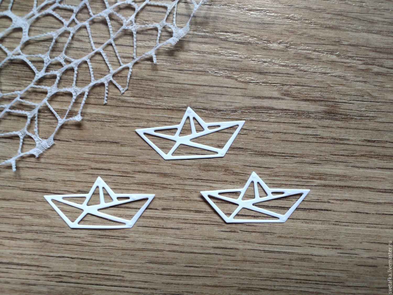 !Cutting for scrapbooking - BOAT origami, diz cardboard, Scrapbooking cuttings, Mytishchi,  Фото №1