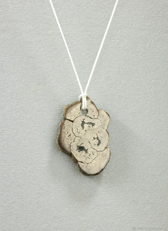 Pyrite pendant on a lace natural stone, Pendant, Saratov,  Фото №1