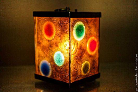 """Освещение ручной работы. Ярмарка Мастеров - ручная работа. Купить Светильник-фонарь """"Абстрактная композиция"""". Handmade. Комбинированный, ночник, лантунь"""