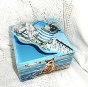 Napkin holders handmade. Livemaster - original item Napkin holder Sea wolves. Handmade.