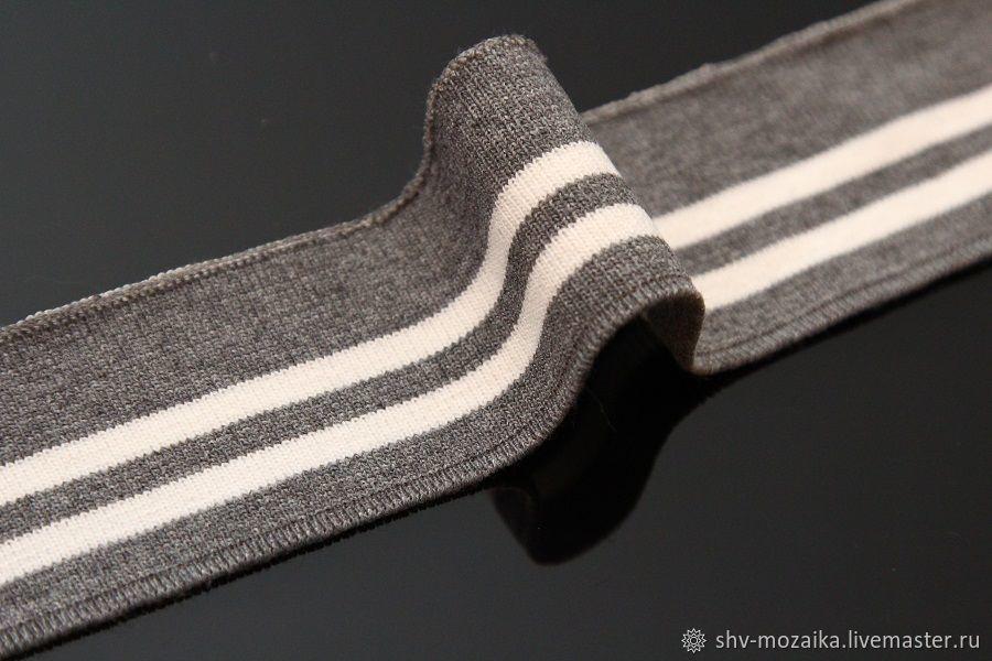 Подвяз серый/белый. Цена за шт, Отделка для шитья, Москва,  Фото №1