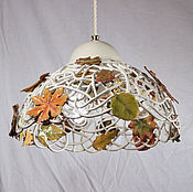 Для дома и интерьера handmade. Livemaster - original item Autumn in the Park - a large pendant lamp with 3 lamps. Handmade.