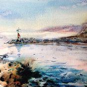 Картины и панно ручной работы. Ярмарка Мастеров - ручная работа акварель Море. Handmade.