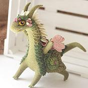 Куклы и игрушки ручной работы. Ярмарка Мастеров - ручная работа Светлый Артишок, валяный дракон. Handmade.