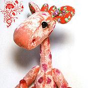 Куклы и игрушки ручной работы. Ярмарка Мастеров - ручная работа Плюшевая  жирафа  Раисочка. Handmade.